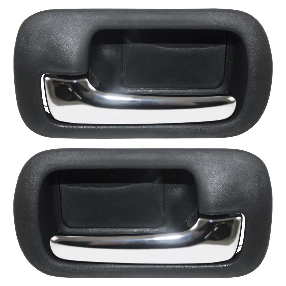 01 05 honda civic set of rear inside door handles chrome lever w black housing. Black Bedroom Furniture Sets. Home Design Ideas