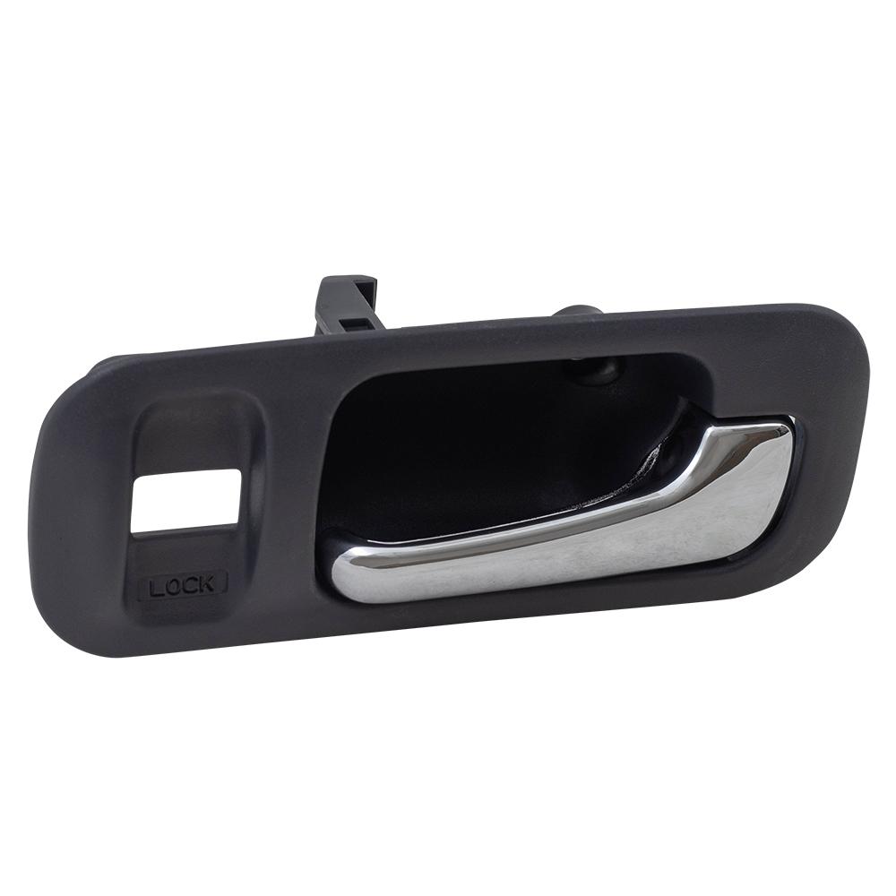 97 01 honda cr v passengers front inside gray bezel chrome door handle. Black Bedroom Furniture Sets. Home Design Ideas