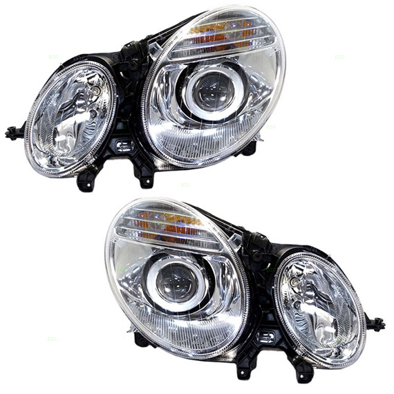 07 09 mercedes benz e class new pair set for Mercedes benz headlight lens
