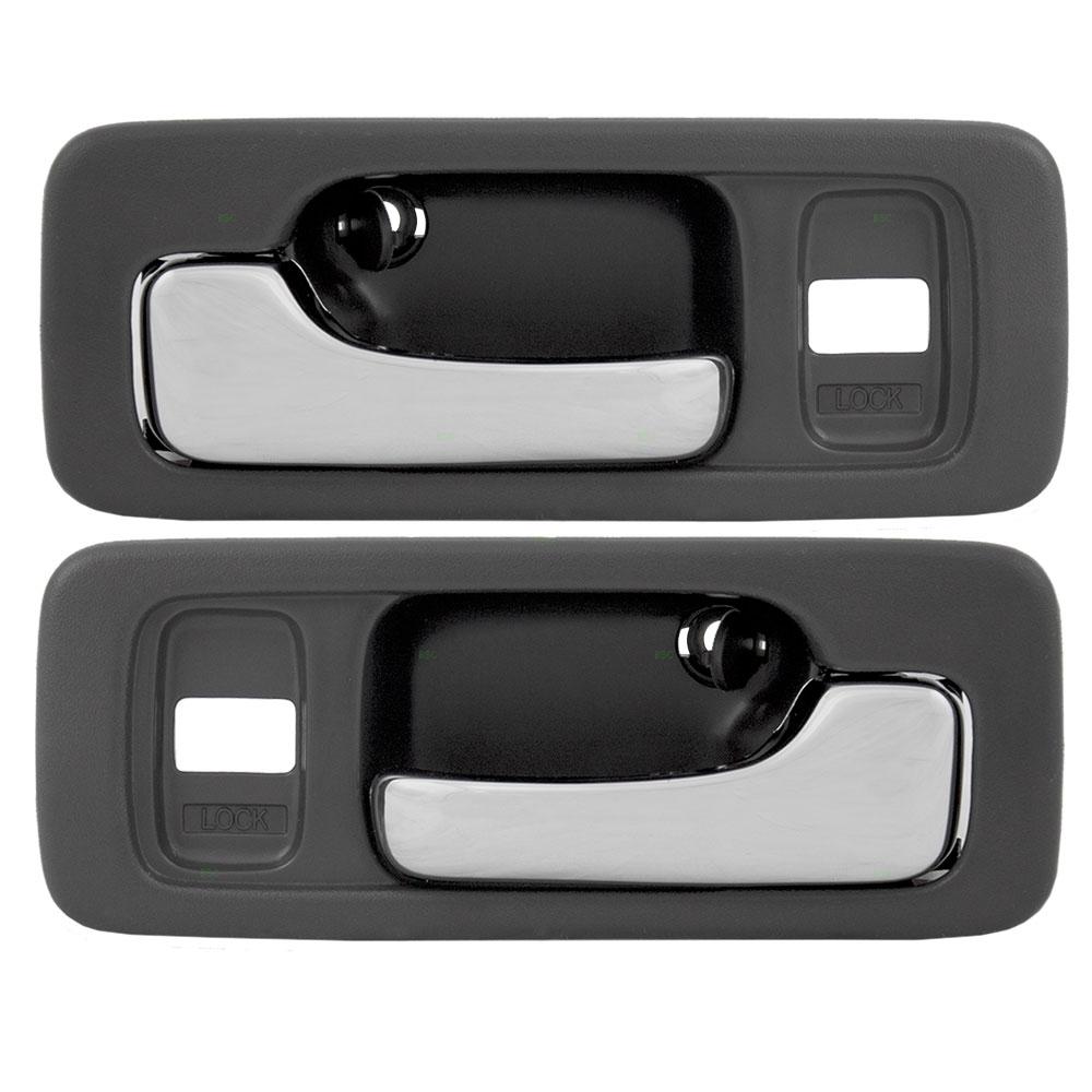90 93 honda accord sedan set of front inside grey chrome power door. Black Bedroom Furniture Sets. Home Design Ideas