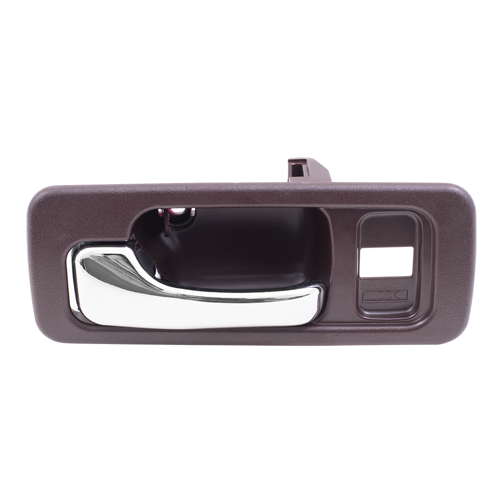 90 93 honda accord sedan drivers front inside red chrome power door handle w lock hole. Black Bedroom Furniture Sets. Home Design Ideas