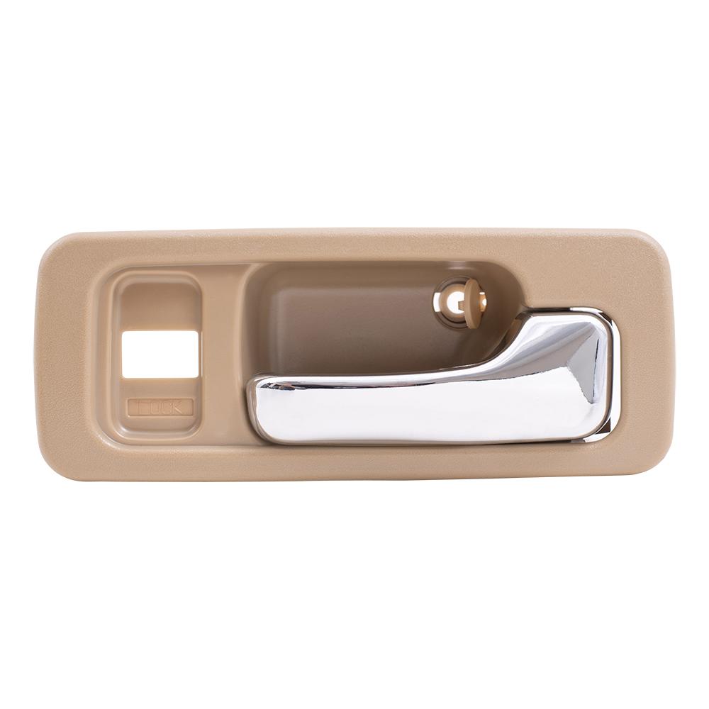 90 93 honda accord sedan set of front inside tan chrome power door handles w lock holes. Black Bedroom Furniture Sets. Home Design Ideas