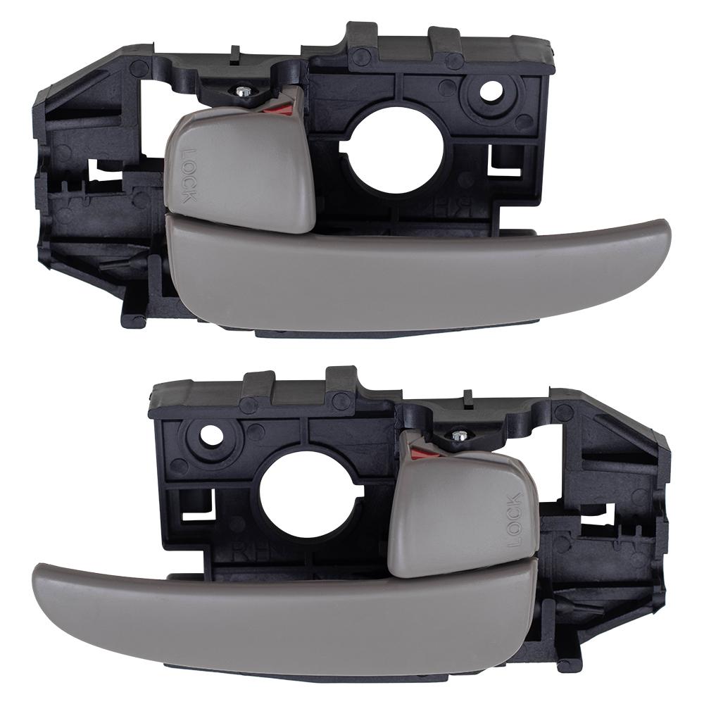 01 06 Hyundai Elantra Set Of Inside Front Tan Door Handles