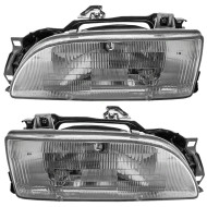 Picture of 89-92 Geo Prizm New Pair Set Headlight Headlamp Lens Housing Assembly Aftermarket