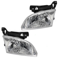 Picture of 00-02 Chevrolet Cavalier New Pair Set CAPA-Certified Headlight Headlamp Lens Housing Assembly DOT
