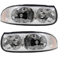 Picture of 00 Buick LeSabre New Pair Set Headlight Headlamp Lens Housing Assembly SAE DOT