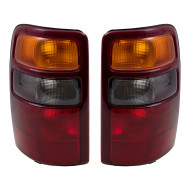 Picture of 00-03 GMC Yukon & XL Chevrolet Tahoe Suburban New Pair Set Taillight Taillamp Lens with Red Housing Unit