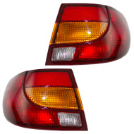 Picture of 00-02 Saturn S-Series New Pair Set Taillight Taillamp Lens Housing Assembly DOT