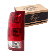 Picture of 07-14 GMC Sierra Pickup Truck New Drivers Taillight Taillamp Lens Housing Assembly