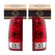 Picture of 07-14 GMC Sierra Pickup Truck New Pair Set Taillight Taillamp Lens Housing Assembly