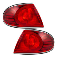 Picture of 00 Buick LeSabre New Pair Set Taillight Taillamp Lens Housing Assembly SAE DOT