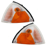 Picture of 89-94 Suzuki Swift Geo Metro New Pair Set Park Signal Side Marker Light Amber & Clear Lens DOT