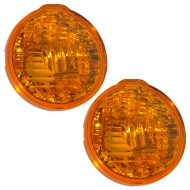 Picture of 00-02 Pontiac Sunfire New Pair Set Park Signal Front Marker Light Lamp Lens Housing DOT