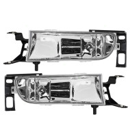 Picture of 00-05 Cadillac DeVille New Pair Set Fog Light Lamp Lens Housing Assembly SAE