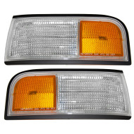 Picture of 90-97 Oldsmobile Cutlass Supreme New Park Signal Side Marker Light Lamp Amber & Clear Lens Assembly DOT