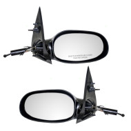Picture of 00-05 Saturn L Series New Pair Set Manual Remote Side View Mirror Glass Housing with Smooth Finish