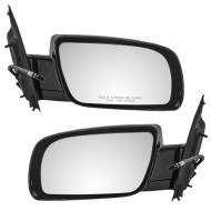Picture of 00-05 Chevrolet Astro GMC Safari Van New Pair Set Power Side View Mirror Below Eyeline Glass Housing Smooth