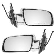 Picture of 00-05 Chevrolet Astro GMC Safari Van New Pair Set Power Side View Chrome Specialty Mirror Performance Upgrade