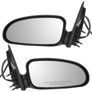 Picture of 00-05 Pontiac Bonneville New Pair Set Power Side View Mirror Glass Housing Assembly