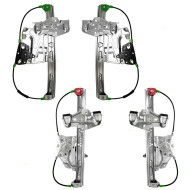 Picture of 00-01 Cadillac Deville New 4 Piece Set Front and Rear Window Lift Regulators with Motors