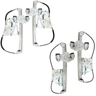Picture of 00-05 Cadillac DeVille New 4 Piece Set of Front and Rear Power Window Lift Regulators Aftermarket