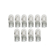 Picture of 10 Piece Set Pack of Clear 194 Type Light Bulbs for Off Road Vehicles