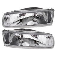 Picture of 93-95 Concorde Vision New Pair Set Headlight Headlamp Lens Housing Assembly DOT