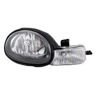Picture of 01-02 Dodge Neon New Passengers Headlight Headlamp Assembly w/ Black Bezel & Rubber Gasket DOT