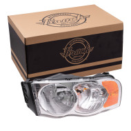 Picture of 02-05 Dodge Pickup New Drivers Headlight Headlamp Lens Housing Assembly SAE & DOT
