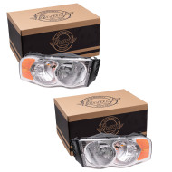 Picture of 02-05 Dodge Pickup New Pair Set Headlight Headlamp Lens Housing Assembly SAE & DOT