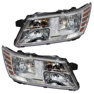 Picture of 09-15 Dodge Journey New Pair Set Headlight Headlamp Lens Housing Assembly DOT