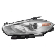 Picture of 13-14 Dodge Dart New Drivers HID Headlight Headlamp Lens Housing with Chrome Trim Assembly DOT