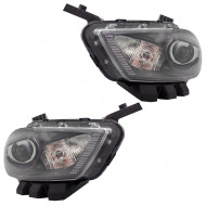 Picture of 13-14 Dodge Dart New Pair Set HID Headlight Headlamp Lens with Black Trim Housing Assembly DOT