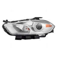 Picture of 13-14 Dodge Dart New Drivers Halogen Headlight Headlamp Lens Housing with Chrome Trim Assembly DOT