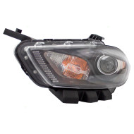 Picture of 13-14 Dodge Dart New Drivers Halogen Headlight Headlamp Lens with Black Trim Housing Assembly DOT