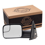 Picture of 02-10 Dodge Pickup Truck New Drivers Power Side Trailer Tow Mirror Flip-Up 7x10 Heated