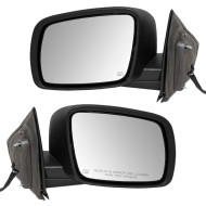 Picture of 09-15 Dodge Journey New Pair Set Power Side View Mirror Glass Housing Heated Textured