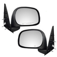Picture of 02-09 Dodge Pickup Truck New Pair Set Power Side View Mirror Glass Housing Heated 6x9 Textured Assembly