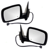 Picture of 09-13 Dodge Journey SUV New Pair Set Power Side View Mirror Glass Housing Heated with 12H5P Connector