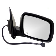 Picture of 09-13 Dodge Journey SUV New Passengers Power Side View Mirror Glass Housing Assembly Heated with 12H5P Connector