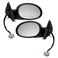 Picture of 00-01 Dodge Plymouth Neon New Pair Set Power Side View Mirror Glass Housing Heated Textured Assembly