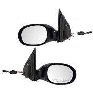 Picture of 01-03 Chrysler PT Cruiser New Pair Set Manual Remote Side View Mirror Glass Housing Textured