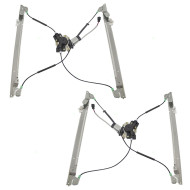 Picture of 01-03 Caravan Town & Country Voyager New Front Pair Set Power Window Lift Regulators with Motors