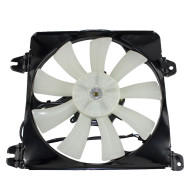 Picture of 01-05 Chrysler Sebring Dodge Stratus Mitsubishi Eclipse New AC A/C Condenser Cooling Fan Motor Shroud Assembly