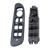 Picture of 02-05 Dodge Pickup Truck New Drivers Power Window Master Switch & Dark Blue Bezel Assembly
