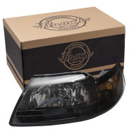 Picture of 01-04 Ford Mustang New Drivers Headlight Headlamp Assembly w/ Smoked Lens SAE & DOT
