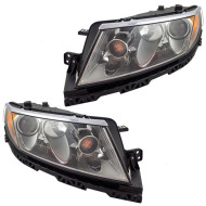 Picture of 10-12 Lincoln MKZ New Pair Set Halogen Headlight Headlamp Lens Housing Assembly DOT