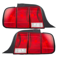Picture of 05-09 Ford Mustang New Pair Set Taillight Taillamp Lens Housing Assembly DOT Aftermarket