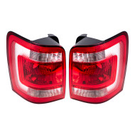 Picture of 08-12 Ford Escape & Escape Hybrid SUV New Pair Set Taillight Taillamp Lens Housing SAE DOT