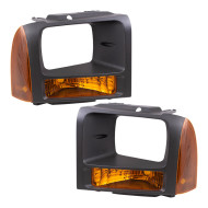 Picture of 05-07 Ford Super Duty Pickup Truck New Pair Set Park Signal Front Marker Light Lamp Assembly DOT